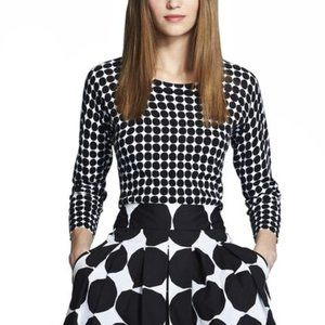Banana Republic Marimekko Collection Black White Kivet Polka Dot Sweater Medium
